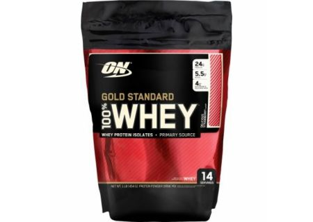 OptimumN Whey Gold 0, 45kg (клубника)